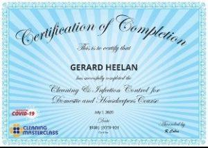 Gerard Heelan Covid 1 Cleaning